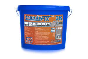 trendyFIX 2K Pflasterfugenmörtel 25 kg | Garageneinfahrt | unkrautfrei | Natur