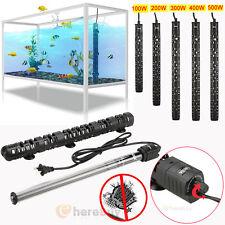 100W-500W Aquarium Heater Anti-Explosion Submersible Fish Tank Water Adjustable