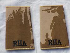 Rangschlaufen: Private, RHA, Royal Horse Artillery, Desert,Paar, heller Rand