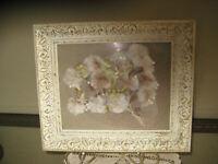Decorative White & Gold Antique Painting Frame w/Original Glass 13 X 11