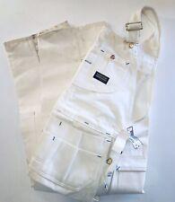 VTG NWT Sears Toughskins 34/34 Union Made Ivory Denim Overalls Carpenter Pants