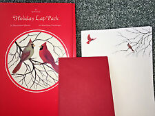 HALLMARK CARDS 5 Sheets STATIONARY & ENVELOPES Vintage Set CARDINALS Stationery