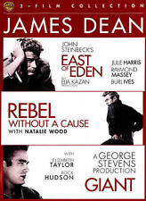 JAMES DEAN East Eden - Rebel Without Cause - Giant (DVD, 3 Disc)