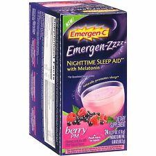 Emergen-Zzzz Nighttime Sleep Aid With Melatonin in Berry PM Flavor 24 Count