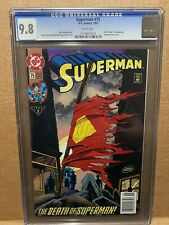 Superman 75 Cgc 9.8 white pages, newsstand and old label! 9.9? Death! Doomsday!