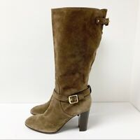 COACH ITALY MADE ROBYNN BROWN SUEDE Leather Heeled BOOTS SZ 10 B