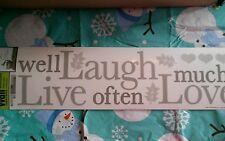 Live well laugh often love much...Wall Sticker Walll decorWALL WORD