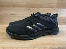 ADIDAS TRIPLE BLACK CARBON SPEED TRAINER 4 SHOES US MEN 12 CASUAL WORKING