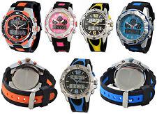 Analoge & digitale polierte Armbanduhren mit Chronograph