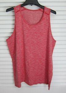 Mens Lululemon Metal Vent Tech Tank Top Singlet Shirt Space Dye Red XL