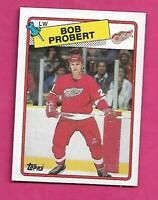 1988-89 TOPPS # 181 RED WINGS BOB PROBERT ROOKIE NRMT CARD (INV# C1956)