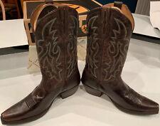 Ariat Men's Heritage Western D-Toe Boot 13 D 10009595 Dark Weathered Brown