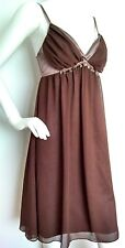 Designer REISS cocktail dress size 12 --BRAND NEW-- below knee brown