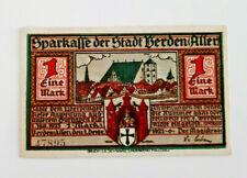 VERDEN (ALLER) NOTGELD 1 MARK 1921 NOTGELDSCHEIN (12121)