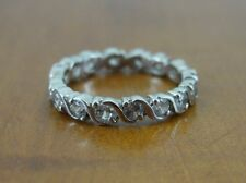 Cubic Zirconia Sterling surround Silver 925 Band Ring Size 6