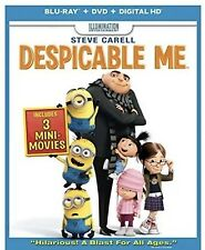 DESPICABLE ME(BLU-RAY+DVD+DIGITAL HD) INCLUDES 3 MINI MOVIES BRAND NEW