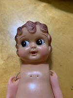 "Vintage 8"" CELLULOID Doll Girl Japan 1920s Bobbed Hair Antique P101"