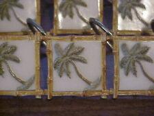 Tropical Palm Tree & Bamboo Shower Curtain Hook Set of 12 Springmaid Brand