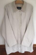 London Fog Men's Jacket Coat Size L Waterproof Beige 32 long Lined  Overcoat