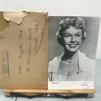 Vintage Doris Day Photo Warner with Envelope Black White
