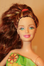 CLEARANCE: Think Spring! Auburn & Gold Streaked Wavy PT Reroot Barbie Doll OOAK