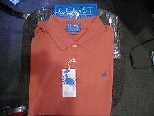 Coast Pawleys Island Winyah Polo New Shirt Peach Size Medium