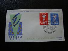 BELGIQUE - enveloppe 1er jour 13/9/1958 (europa) (cy20) belgium