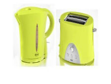 SWAN 2 SLICE POP UP TOASTER +1.7L CORDLESS KETTLE GREEN