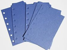 9 Shimmery Dark Blue  Filofax POCKET size  dividers monthly subject top tab