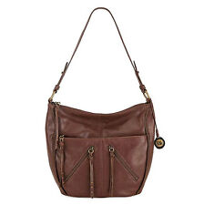 New The Sak Iris Hobo Walnut Brown Leather Handbag Purse New with Tags Fob