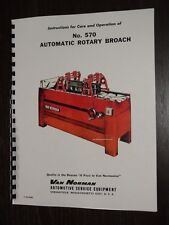 Van Norman Model 570 Rotary Broach Surfacer Manual