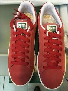 NIB Men's size 8.5 PUMA Suede Classic+ Sneakers Red 352634-05