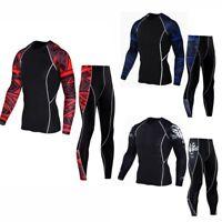 Man Workout Leggings Fitness Sports Gym Running Yoga Athletic Suit Pants+Shirt