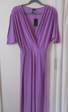 Koh Koh womens Dress Purple Maxi New V neck Plus size 1