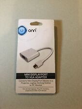 onn Mini DisplayPort To VGA Adapter Brand New