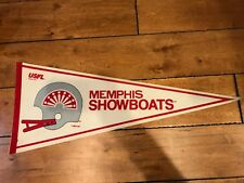 Vintage MEMPHIS SHOWBOAT 1982 USFL Full Size Pennant