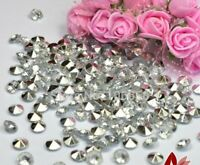 10MM SILVER & CLEAR WEDDING TABLE CONFETTI DIAMONDS SCATTER CRYSTALS DECORATIONS
