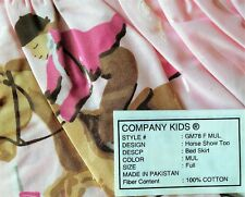 Company Kids 2 Bed Skirts Bedding Cotton Design: Horse Show Too Size Full New