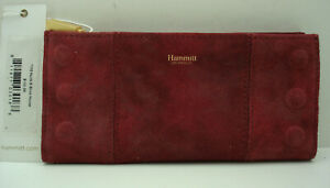 NWT Hammitt Soft Checkbook Style Wallet Suede Leather Red Brick House 110 North