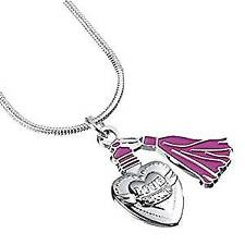 Official Harry Potter Pink Enamel Love Potion Pendant Silver Plated Necklace