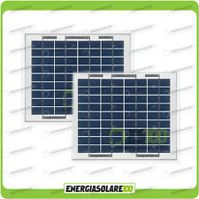 Stock 2 Pannelli Solari Fotovoltaici 5W 12V multiuso Pmax 10W