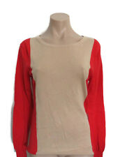 Witchery Womens Girls Red Camel Colourblock Jumper Knit Top Size S