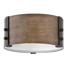 Hinkley 2 Light Sawyer Outdoor Flush Mount, Sequoia - 29201SQ