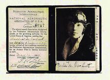 Copy of Amelia Earhart's Pilot License1923-Federation Aeronautique International