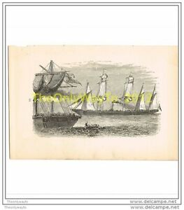 NEW LIFE , SAILING TO NEW WORLD, BOOK ILLUSTRATION, MYRA SHERWOODS CROSS, c1891