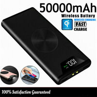 Qi Wireless Power Bank 50000mAh Charger Portable External Battery For Cell Phone