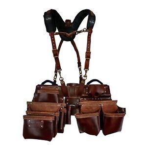 WorkGearUK Tool Belt Set 11 Pocket With Suspenders WG-PX54