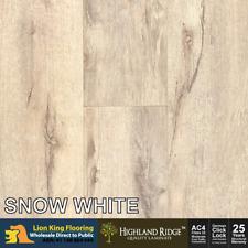 12mm Laminate Flooring/  Laminate Timber Floorboard Floor - Colour Snow White