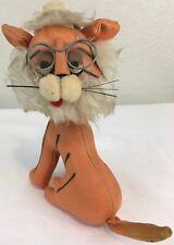 Sawdust Stuffed Lion Glasses Japan Dakin Dream Pets Leather Anthropomorphic