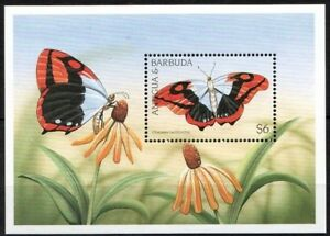 Antigua & Barbuda 1998 MNH MS, Butterflies, Insects